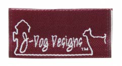 j dog designs woven label