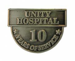 10 Years of Service Lapel Pins