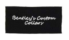 bentleys custom collars woven labels