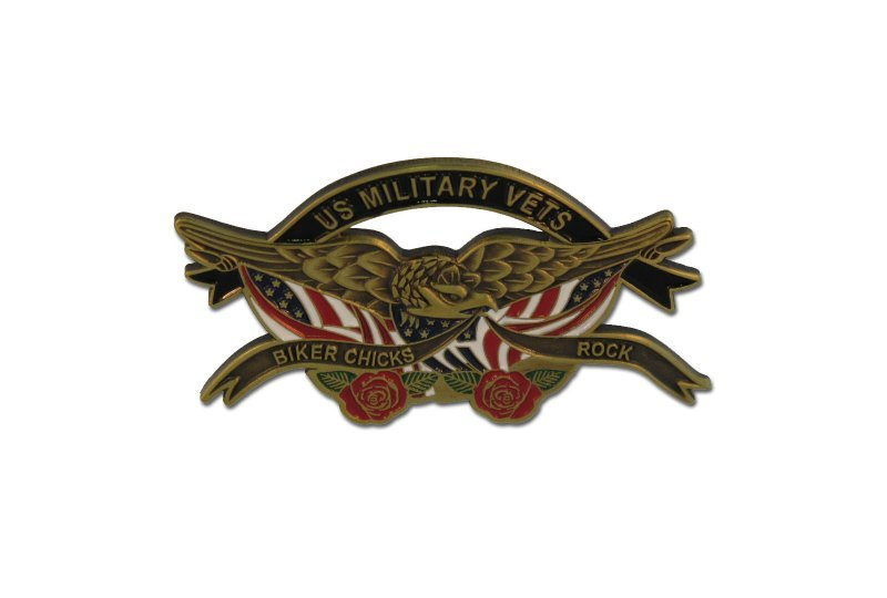 US Military Biker Chicks Pin