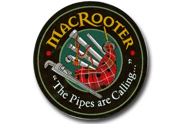 Macrooter  Woven Patch   Merrow Border desc