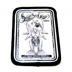 printed biker patch