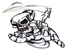 printed patch - skull