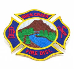 embroidered fire district-Patch