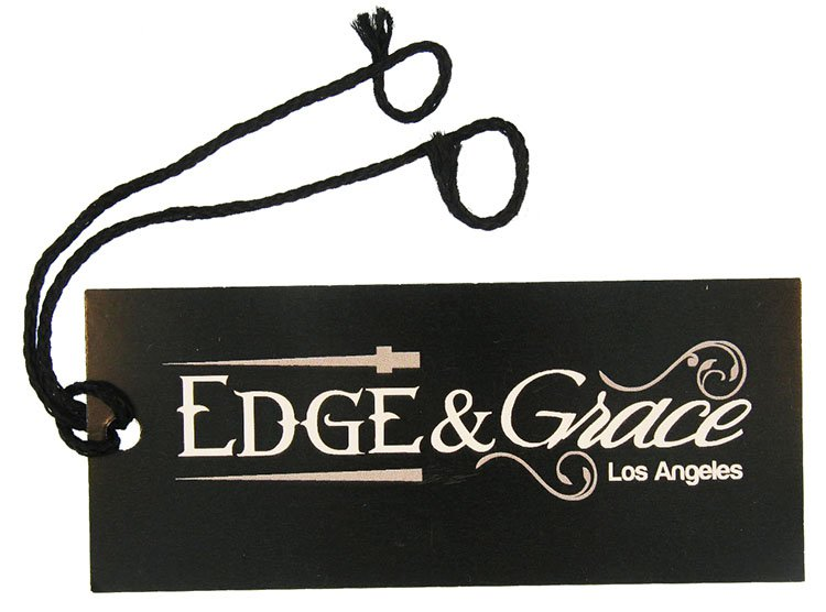 Edge and Grace Hangtag with Black String