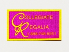 printed polycotton labels - collegiate