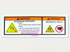 printed polycotton labels - warning