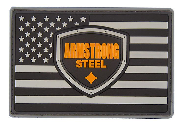 Armstrong Steel PVC Flag Patch
