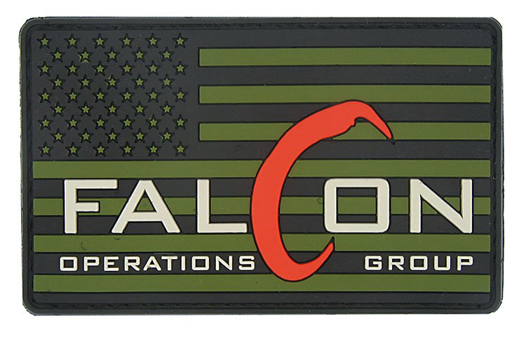 Falcon Operations PVC Logo & American Flag Patch