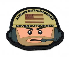 Outnumbered not Outgunned pvc Patch