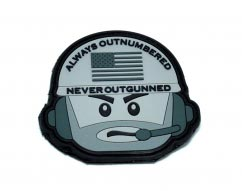 Never Outgunned pvc Grey Patch