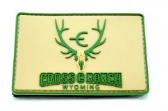 Cross Ranch Wyoming Velcro Patch2D Rectangular pvc Patch with Velcro Backing.