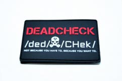 Deadcheck pvc Patch2D Rectangular pvc Patch with Velcro Backing.