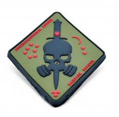 Zombie Warfare School pvc Patch2D Diamond Shaped pvc Patch with Velcro Backing.