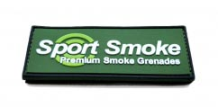 Premium Smoke Grenade velcro label2D Rectangular pvc Patch with Velcro Backing.