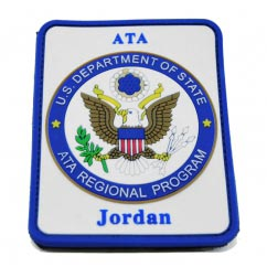 ATA Military Regional pvc Patch2D Rectangular pvc Patch with Velcro Backing.