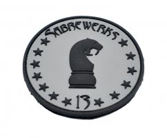 Sabrewerks pvc Patch3D Round pvc Patch with Velcro Backing.
