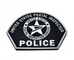 United States Postal Inspector Police2D Shield Shaped pvc Patch with Velcro Backing.