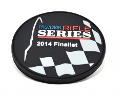 Precision Rifle Series - 2014 Finalist - pvc Patch2D Round pvc Patch with Velcro Backing.