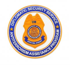 Diplomatic Security Service pvc Patch2D Round pvc Patch with Velcro Backing.