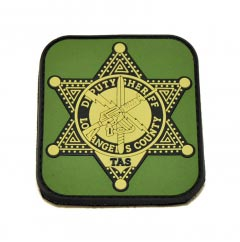 Los Angeles County Deputy Sheriff2D Rectangular pvc Patch with Velcro Backing. Badge.