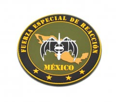 Fuerza Especial de Reaccion - Mexico - pvc Patch2D Round pvc Patch with Velcro Backing.