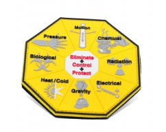 Eliminate Control Protect pvc Patch2D Hexagon Shaped (Hexagon) pvc Patch with Velcro Backing