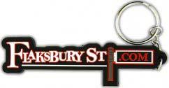 Flaksbury Street rubber Keychain
