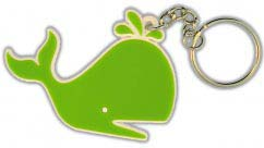 Green Whale Customized PVC Keychain