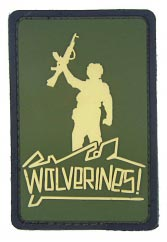 wolverines PVC patch