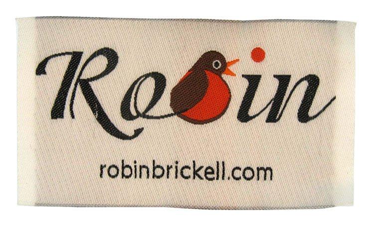 robin woven label