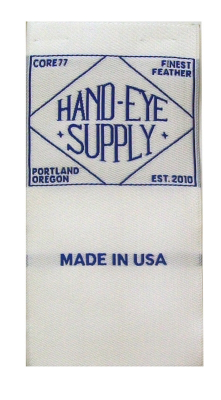 labels woven damask hand eye supply