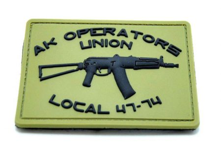 ak operators pvc flag size patch
