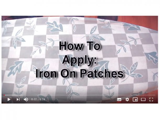 how to attach patches by iron them on
