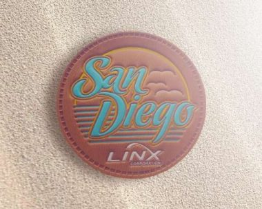 linx embossed leather patches