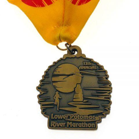 Antique Bronze Marathon Medal