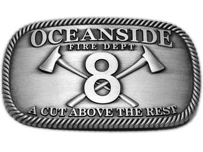 oceanside fire department belt buckle