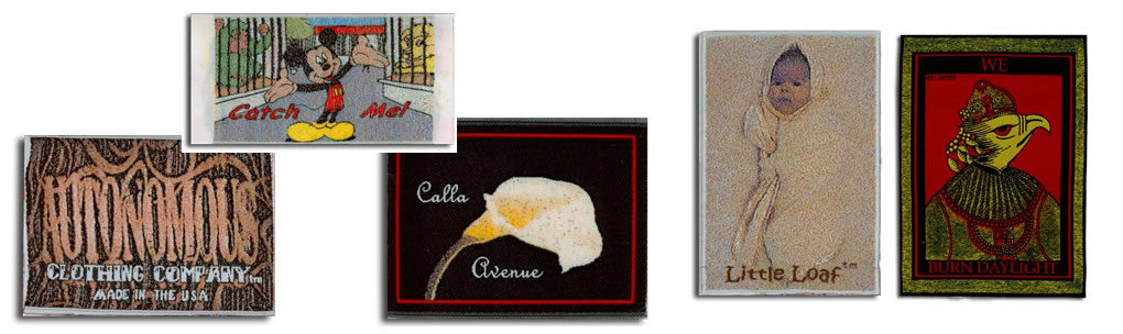 photo effect woven labels