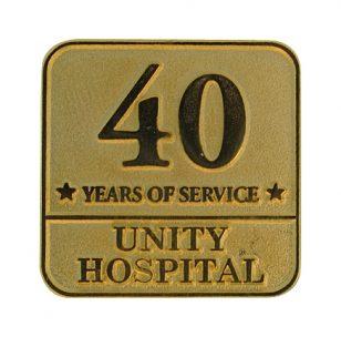 unity hospital award pin