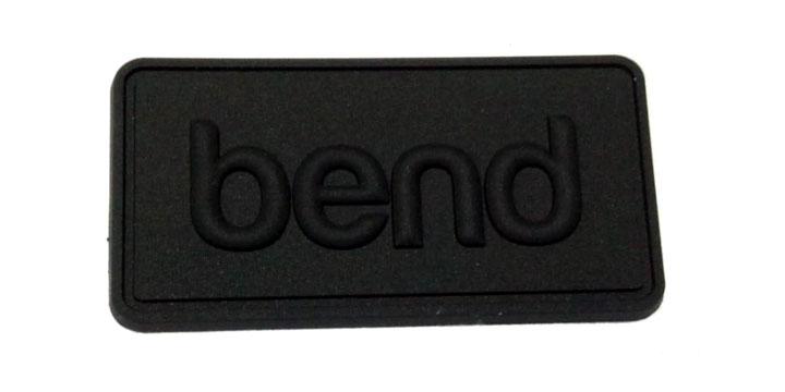 bend black pvc label