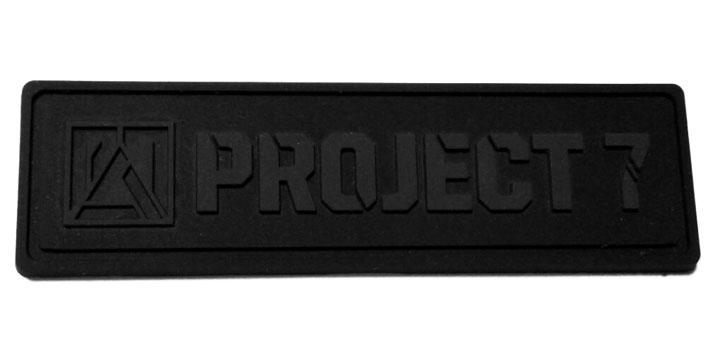 project7 black pvc label