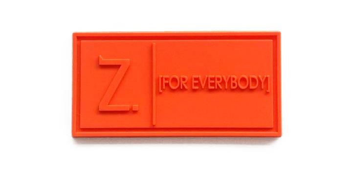 z for everybody orange pvc label