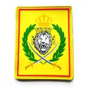 printed pvc patch lion