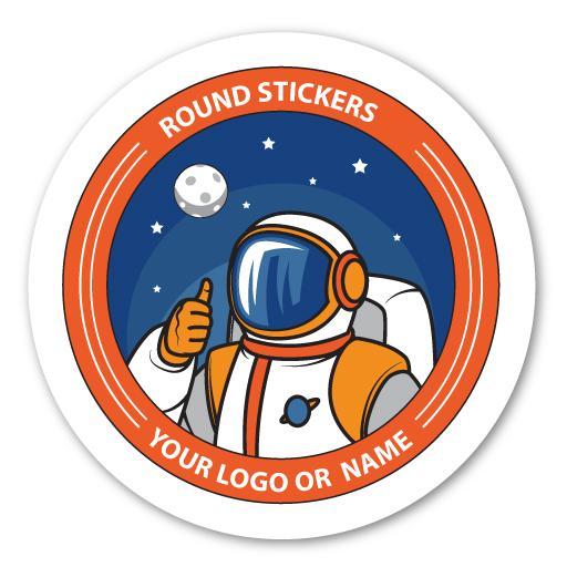 round-vinyl stickers