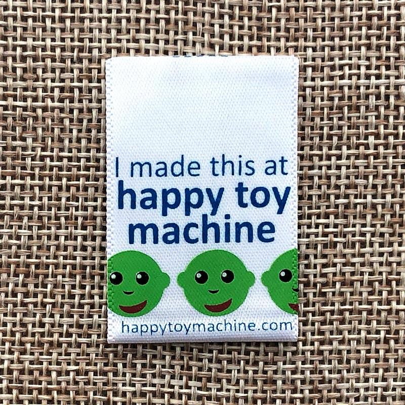 happy toy machine Printed Satin Label