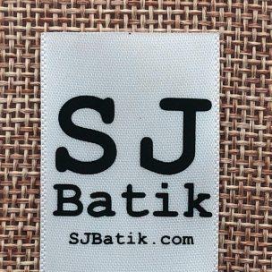 SJ Batik satin printed label