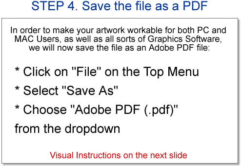 STEP 4. Save the file as PDF