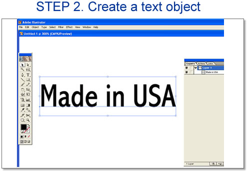 Step 2. Create a text object