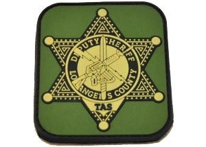 deputy sheriff los angeles county pvc patch