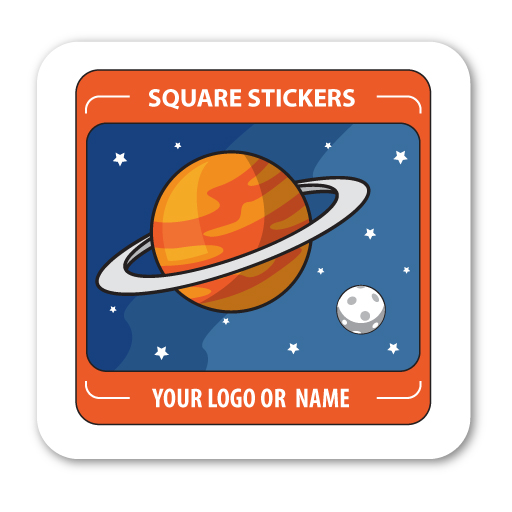 square-vinyl sticker